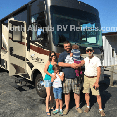 Happy Customers after their RV Rental trip to Atlanta