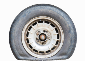 RV Rental Flat Tire Image
